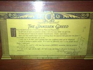 Every piano company has a creed