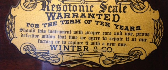 Another fun boasting found on the inside of an old piano . . .