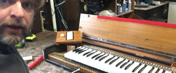 Hours and hours working on this Hohner Clavinet