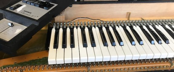 Hard at work getting this Hohner Clavinet back in shape